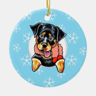 Rottweiler Let it Snow Christmas Ornament