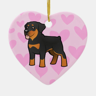 Rottweiler Love (add your own message) Christmas Ornament