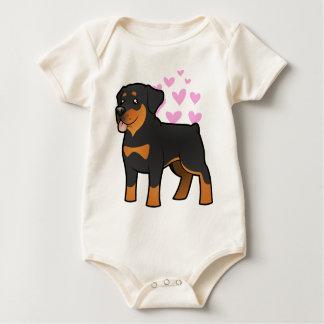 Rottweiler Love Baby Bodysuit