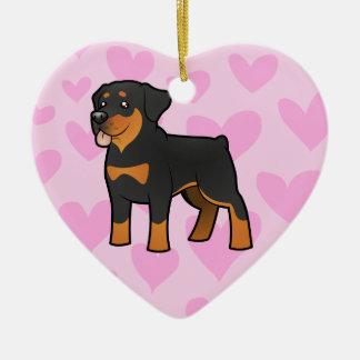 Rottweiler Love Christmas Ornament