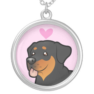 Rottweiler Love Silver Plated Necklace