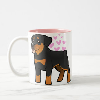 Rottweiler Love Two-Tone Coffee Mug