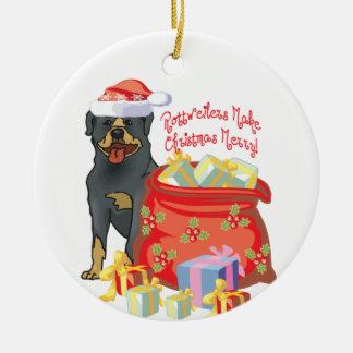 Rottweiler Merry Christmas Christmas Ornament