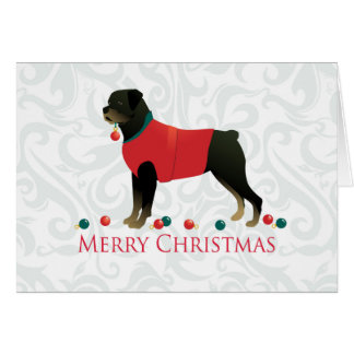 Rottweiler Merry Christmas Design Card