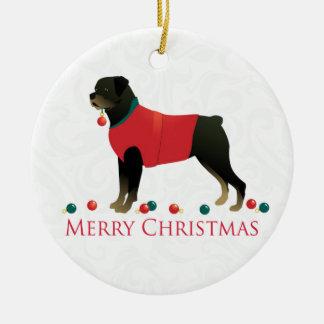 Rottweiler Merry Christmas Design Christmas Ornament