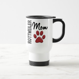 Rottweiler Mom 2 15 Oz Stainless Steel Travel Mug