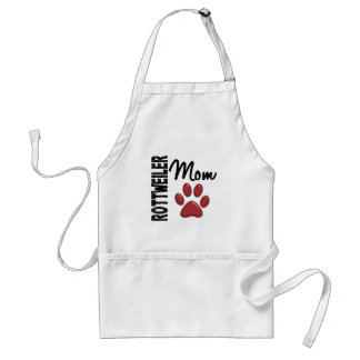 Rottweiler Mom 2 Adult Apron