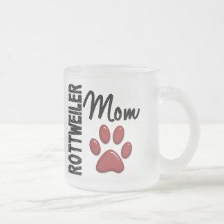 Rottweiler Mom 2 Frosted Glass Mug