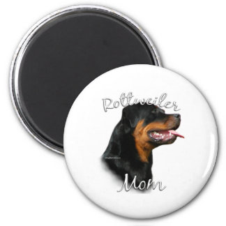 Rottweiler Mom 2 6 Cm Round Magnet