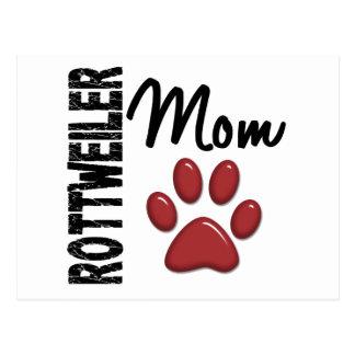 Rottweiler Mom 2 Postcard