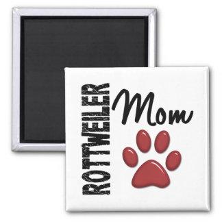 Rottweiler Mom 2 Square Magnet