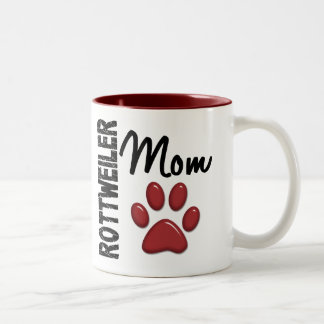 Rottweiler Mom 2 Two-Tone Coffee Mug