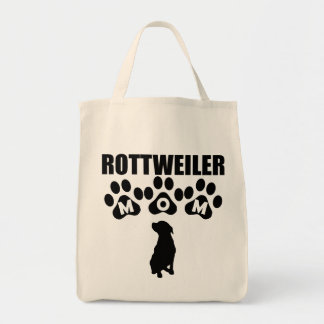 Rottweiler Mom Grocery Tote Bag