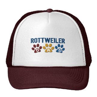 ROTTWEILER Mom Paw Print 1 Mesh Hats