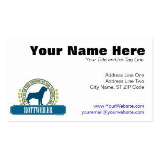 Rottweiler Pack Of Standard Business Cards