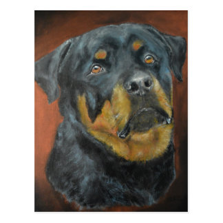 Rottweiler Painting Postcards