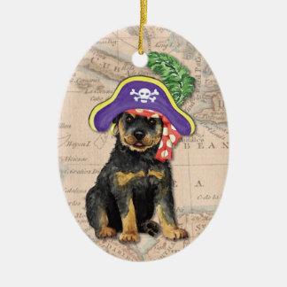 Rottweiler Pirate Christmas Ornament