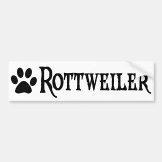 Rottweiler (pirate style w/ pawprint) bumper sticker