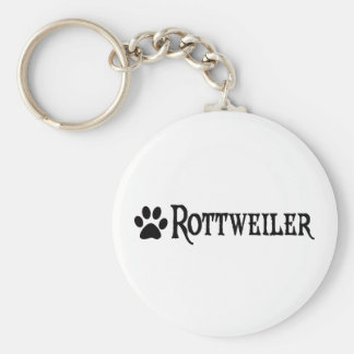 Rottweiler (pirate style w/ pawprint) key ring