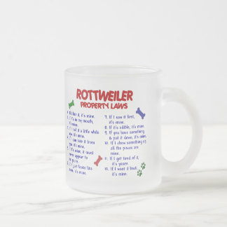 ROTTWEILER Property Laws 2 10 Oz Frosted Glass Coffee Mug