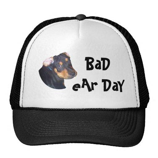 RottWeiler Puppy, BaD eAr DaY Mesh Hat
