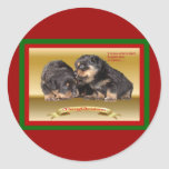 Rottweiler Puppy Christmas Wishes