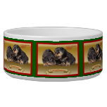 Rottweiler Puppy Christmas Wishes Pet Water Bowl