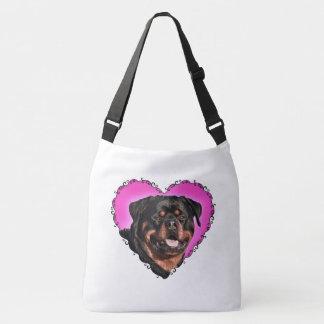 Rottweiler Puppy- Customizable Crossbody Bag