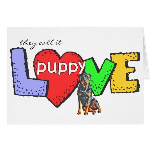 Rottweiler Puppy Love Card