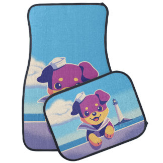 Rottweiler Puppy Sea Dog Sailor Car Mat