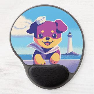 Rottweiler Puppy Sea Dog Sailor Gel Mouse Mat