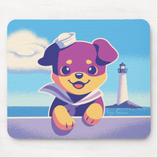 Rottweiler Puppy Sea Dog Sailor Mouse Mat
