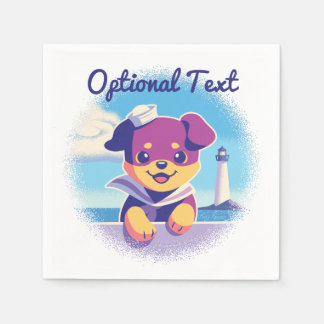 Rottweiler Puppy Sea Dog Sailor Paper Napkin
