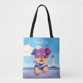 Rottweiler Puppy Sea Dog Sailor Tote Bag
