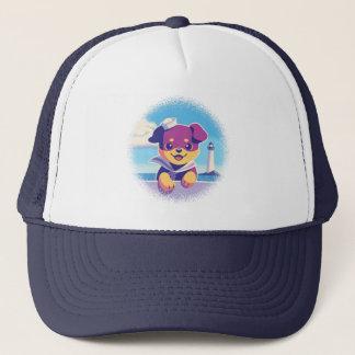 Rottweiler Puppy Sea Dog Sailor Trucker Hat