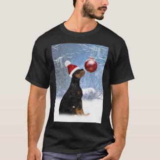 Rottweiler Puppy Winter T Shirt For Men - Rottweil