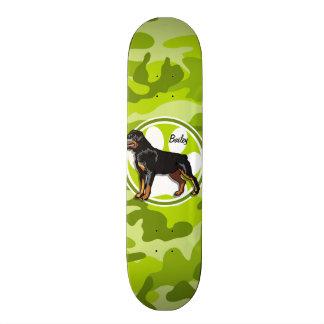 Rottweiler, Rott; bright green camo, camouflage 18.1 Cm Old School Skateboard Deck