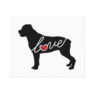 Rottweiler (Rottie) Love Gallery Wrap Canvas