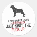 Rottweiler Round Sticker