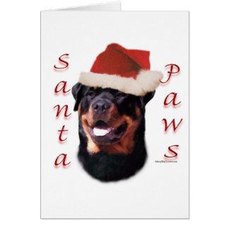 Rottweiler Santa Paws Card