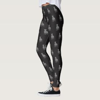 Rottweiler Silhouettes Pattern Leggings