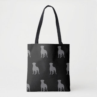 Rottweiler Silhouettes Pattern Tote Bag