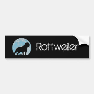 Rottweiler sillhouette moon bumper sticker