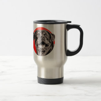Rottweiler Sketch Travel Mug