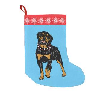 rottweiler small christmas stocking