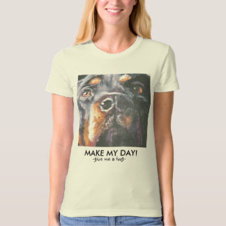 "Rottweiler T Shirt by L.A. Shepard ""MAKE MY DAY!"""