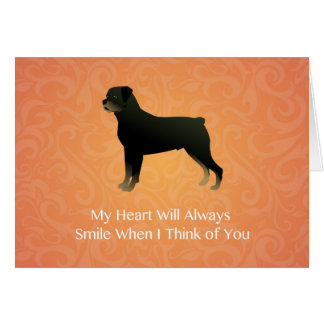 Rottweiler - Thinking of You - Pet Memorial Greeting Card