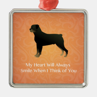 Rottweiler - Thinking of You - Pet Memorial Silver-Colored Square Decoration