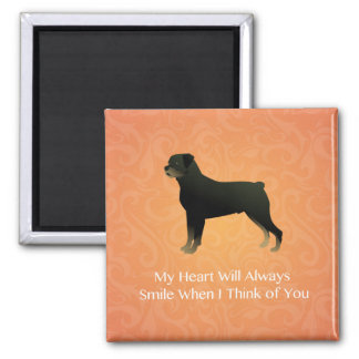 Rottweiler - Thinking of You - Pet Memorial Square Magnet