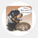 Rottweiler Turkey Round Sticker